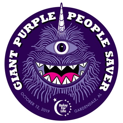 The Giant Purple People Saver - A Relay For Life Event logo