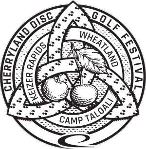 3rd Annual Cherryland Disc Golf Festival and Tournament logo