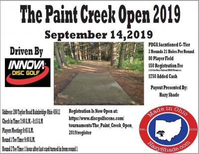 The Paint Creek Open logo