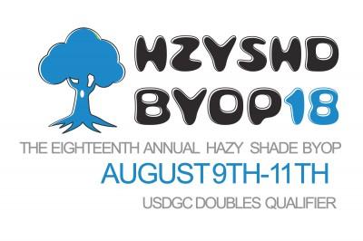 Hazy Shade 18th BYOP Doubles Rec/Int Sponsored by Innova/Discmania&Discraft PoweredBy SoldwithSteele logo