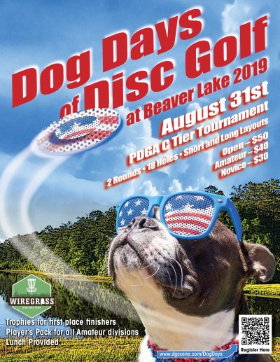 The Dog Days of Disc Golf at Beaver Lake logo