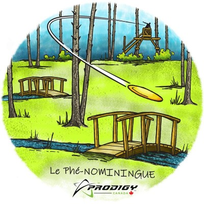 Le Phé-NOMININGUE powered by Prodigy Disc Canada logo