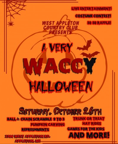 WACCY HALLOWEEN  Ball and Chain scramble. logo