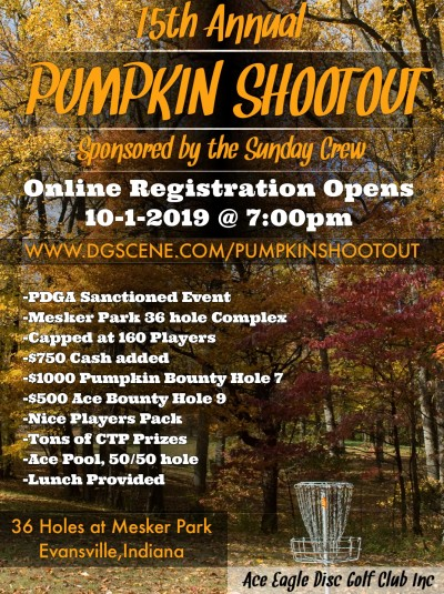 15th Annual Pumpkin Shootout sponsored by Sunday Crew logo