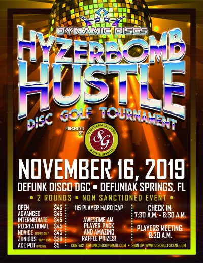 3rd Annual Hyzerbomb Hustle Presented by Southern Glazer's Wine and Spirits logo