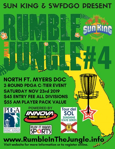 Sun King presents Rumble in the Jungle 4 logo