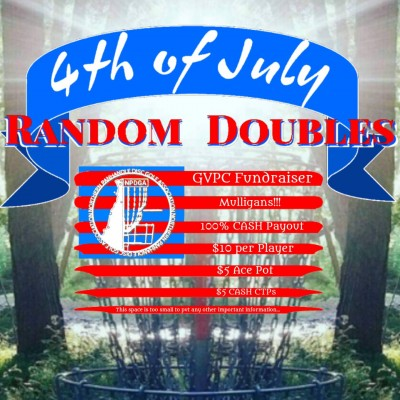 4th of July Random Doubles Driven by Innova, GVPC Fundraiser logo