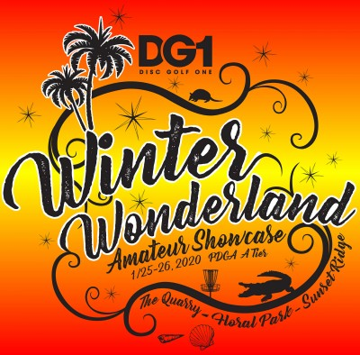 DISC GOLF 1 presents 2021 Winter Wonderland Amateur Showcase logo