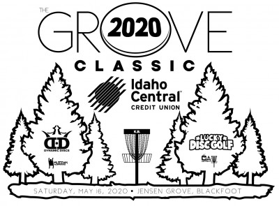 The Grove Classic, 2020. Sponsored by ICCU and powered by Lucky Disc Golf & Dynamic Discs logo