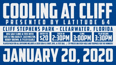 Cooling at Cliff presented by Latitude 64 logo