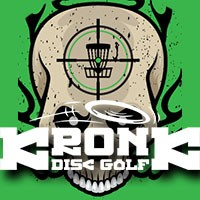 Monroe doubles presented by Kronk Disc Golf logo