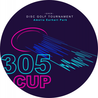 "Miami Disc Golf Club Presents the ""305 CUP"" Driven by Innova logo"