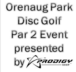 Orenaug Park Disc Golf Par 2 powered by Prodigy logo