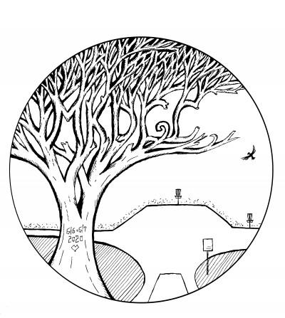 2020 Mine Kill Disc Golf Championship logo