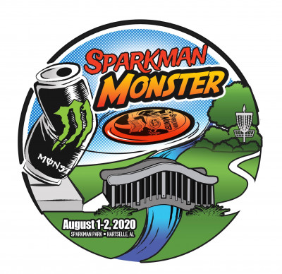 The Sparkman Monster sponsored by Coca-Cola logo