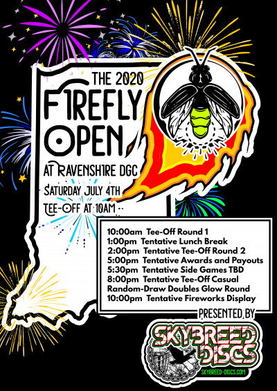 The 2020 Firefly Open Presented by Skybreed Discs logo