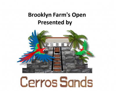 Brooklyn Farm's Open Sponsored by Cerros Sands logo