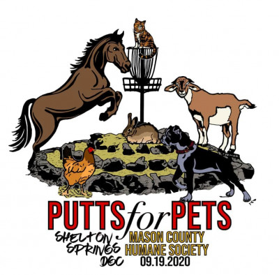 Putts for Pets sponsored by Dynamic Discs logo