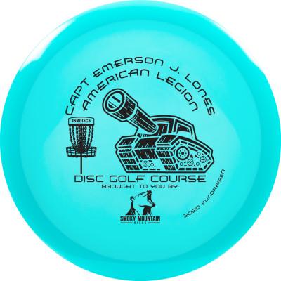 "American Legion Disc Golf Course ""Soft Open"" Fundraiser logo"