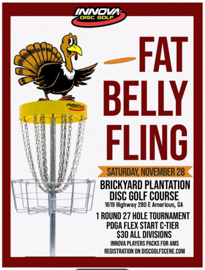 Fat Belly Fling presented by Innova logo