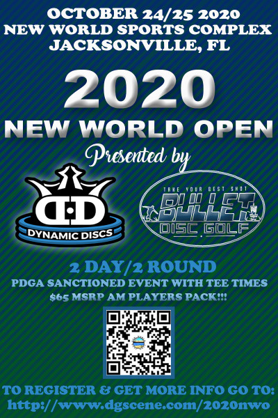 2020 New World Open Sponsored by Dynamic Discs logo