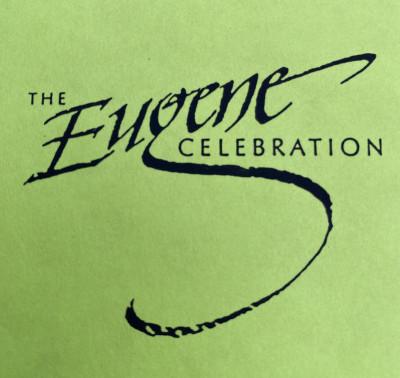 "Eugene Disc Golf Celebration ""The show must go on"" AM Day logo"