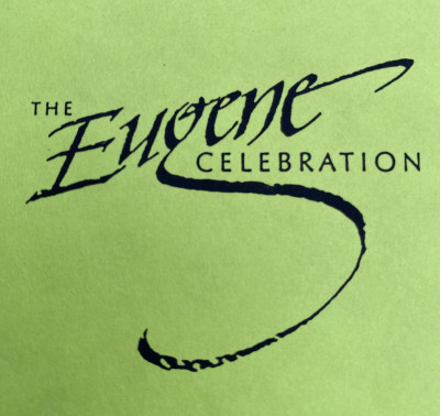 "Eugene Disc Golf Celebration ""The show must go on"" Pro Day logo"