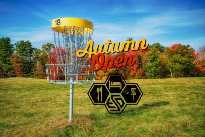 Eat Sleep Disc Autumn Open logo