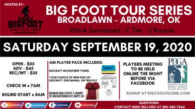Big Foot Tour Series Broadlawn Park - Ardmore OK logo