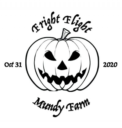 Fright Flight at Mundy Farm in association with Dynamic Discs logo