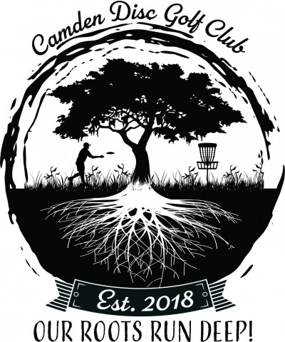 Camden Disc Golf Bag Tag Toss logo
