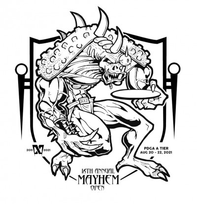 16th Annual Mayhem Open A Tier driven by Innova Discs logo