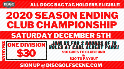 2020 Durant Disc Golf Club Championship logo