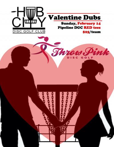 Hub City Valentine Dubs (a Throw Pink event) logo