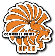 The Commerce Pride Open logo
