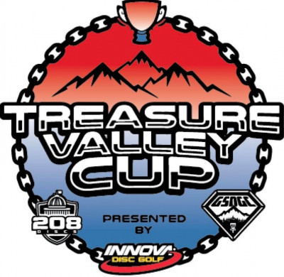 Treasure Valley Cup Driven by Innova Discs, 208 Discs and Integrity Heating and Air logo