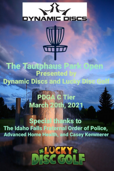 The Tautphaus Park Open Presented by Dynamic Discs and Lucky Disc Golf logo
