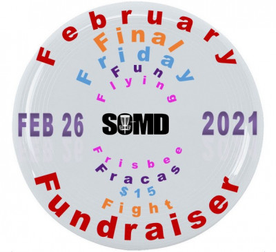 FEBRUARY FINAL FRIDAY FUN FLYING FRISBEE FRACAS $15 FIGHT FUNDRAISER logo