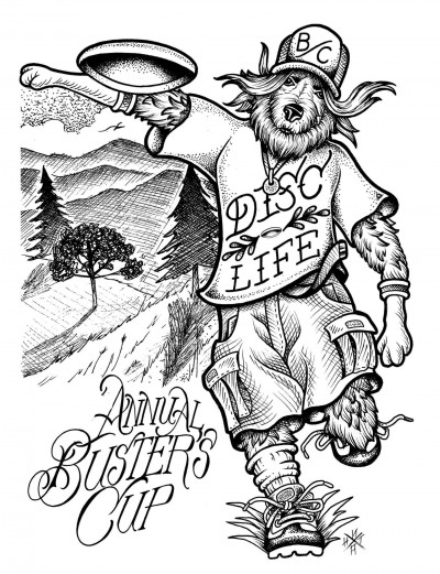 10th Annual Buster's Cup Charity Disc Golf Tournament logo