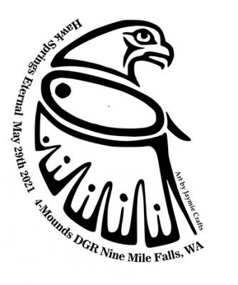 Hawk Springs Eternal (@ 4-Mound DGR) logo