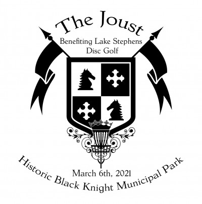 The Joust Benefiting Lake Stephens Disc Golf Course logo