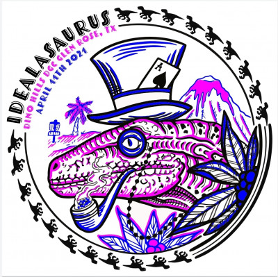 Idealasaurus @ Dino Hills Disc Golf Farm logo