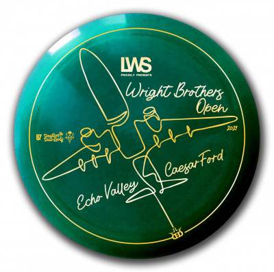 The Wright Brothers Open Sponsored by LWS Accounting 2021 Presented by Dynamic Discs logo