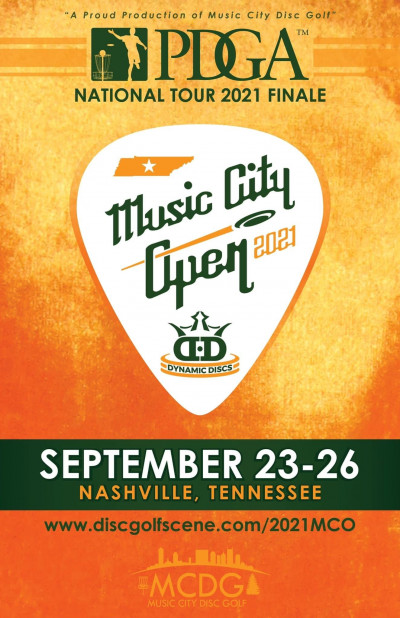 2021 Music City Open Presented by Dynamic Discs - National Tour Finale (MPO and FPO only) logo