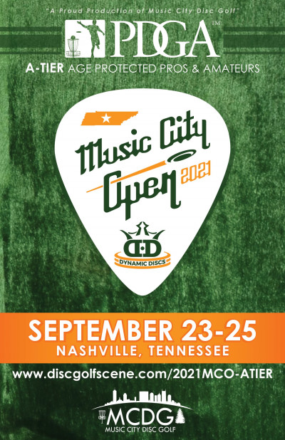 2021 Music City Open Presented by Dynamic Discs - A Tier (Age Protected Pros and Amateurs only) logo