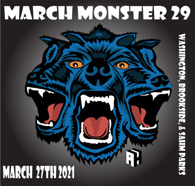 29th Annual March Monster presented by IDGC and Chubb Disc Golf logo
