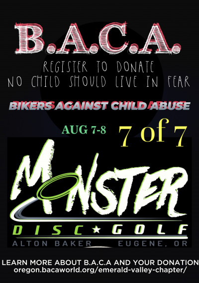 08/07/21 Amateur/Pro Monster Day Finale 7 of 7. A fundraiser for B.A.C.A. logo