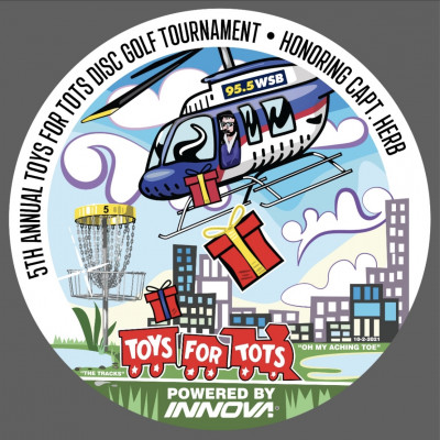 5th Annual Toys for Tots Tourney in Memory of Captain Herb Presented by WSB Radio and Innova Discs logo