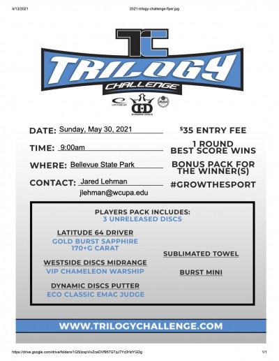Trilogy Challenge at Bellevue State Park logo
