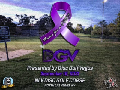 Throw for a CURE presented by Infinite Discs & Neon Black Clothing logo